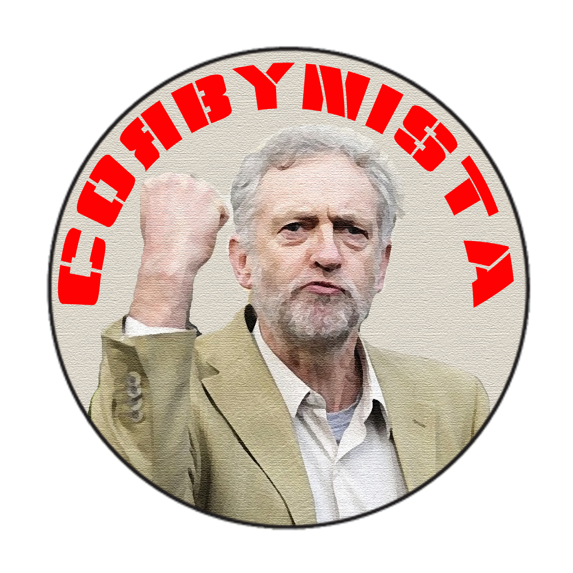 £2.50 Large Corbynista Badge